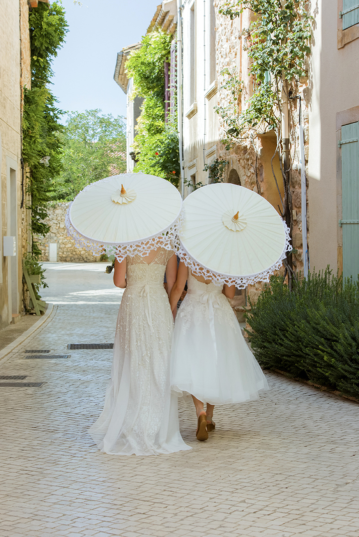 ombrelle mariage castigno - Wedding photographer in South of france