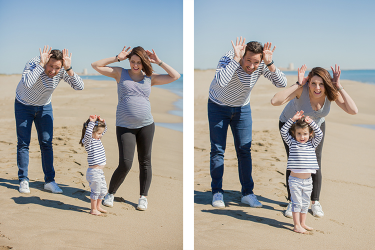 shooting photo famille plage